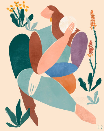 becoming art print by Maggie Stephenson