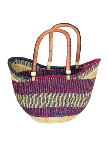 ghana bolga u shopper basket bag tote african