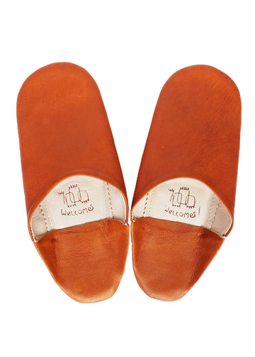 Unisex Moroccan Babouche Slippers /Burnt Orange Babouches
