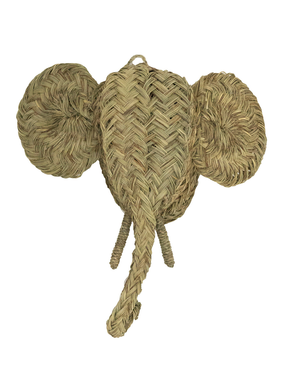 moroccan esparto grass elephant wall decoration
