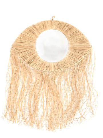 moroccan raffia eye mirror wall decoration bohemian