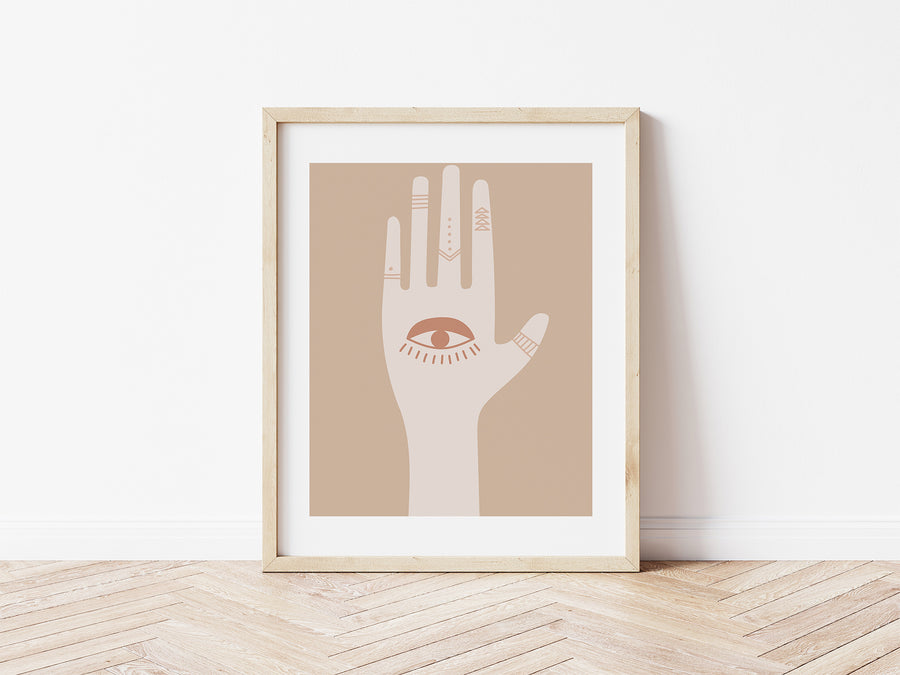 Digital Print / Hand of Hamsa / Abstract Boho Printable Wall Art