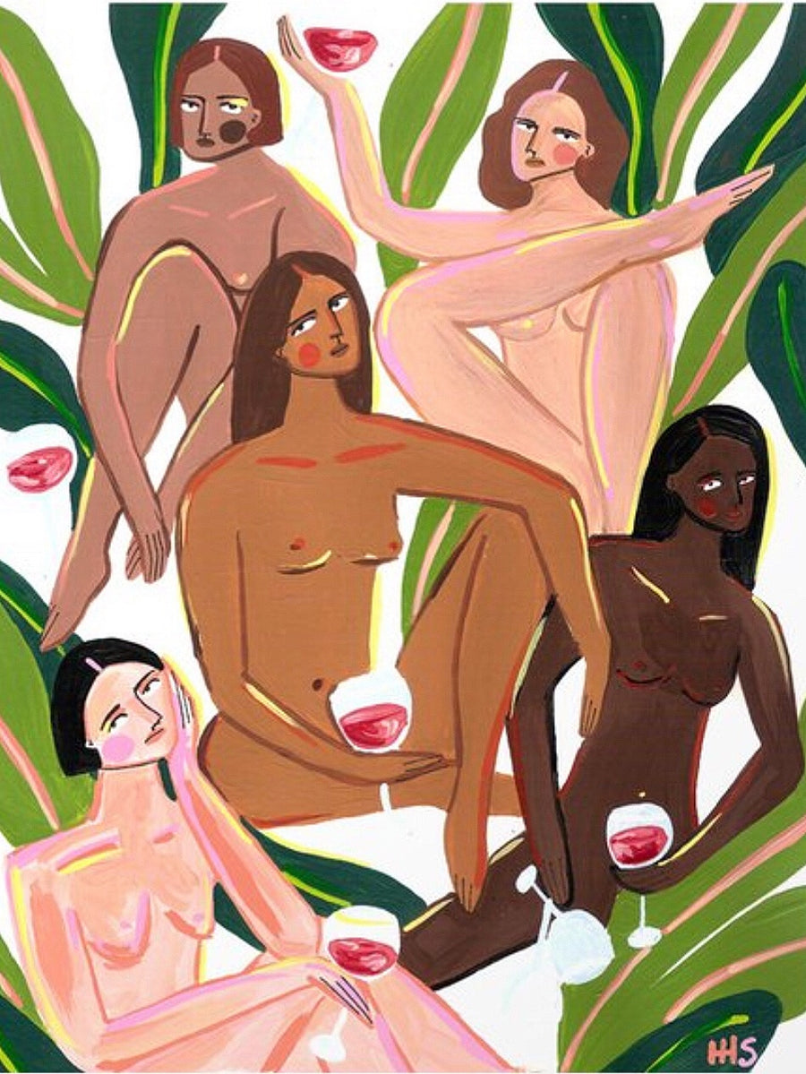 'Ladies of leisure' art print by Maggie Stephenson