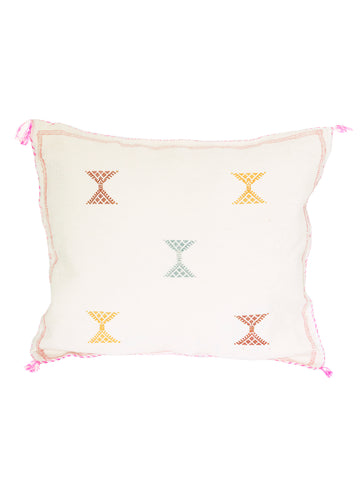 moroccan cactus silk pillow cushion sabra vegan