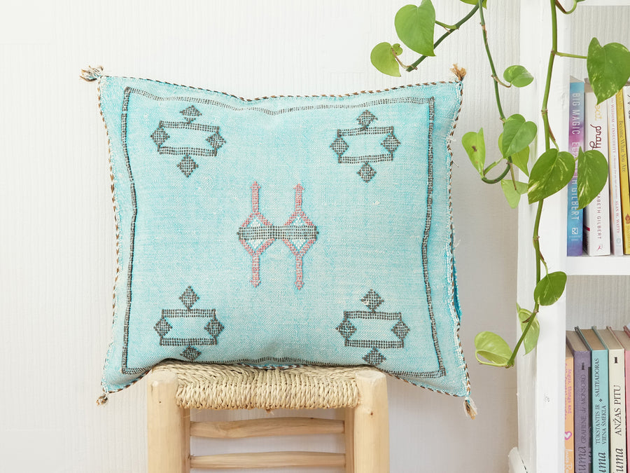 Moroccan Cactus Silk Pillow 21