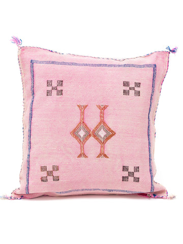 Moroccan Vegan Cactus Silk Pillow Sabra Cushion Boho decor