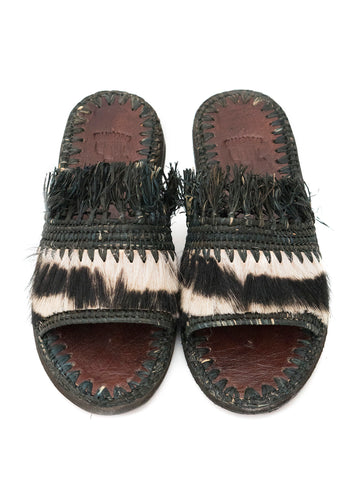 moroccan raffia and fur slippers boho chic 1000 welcomes