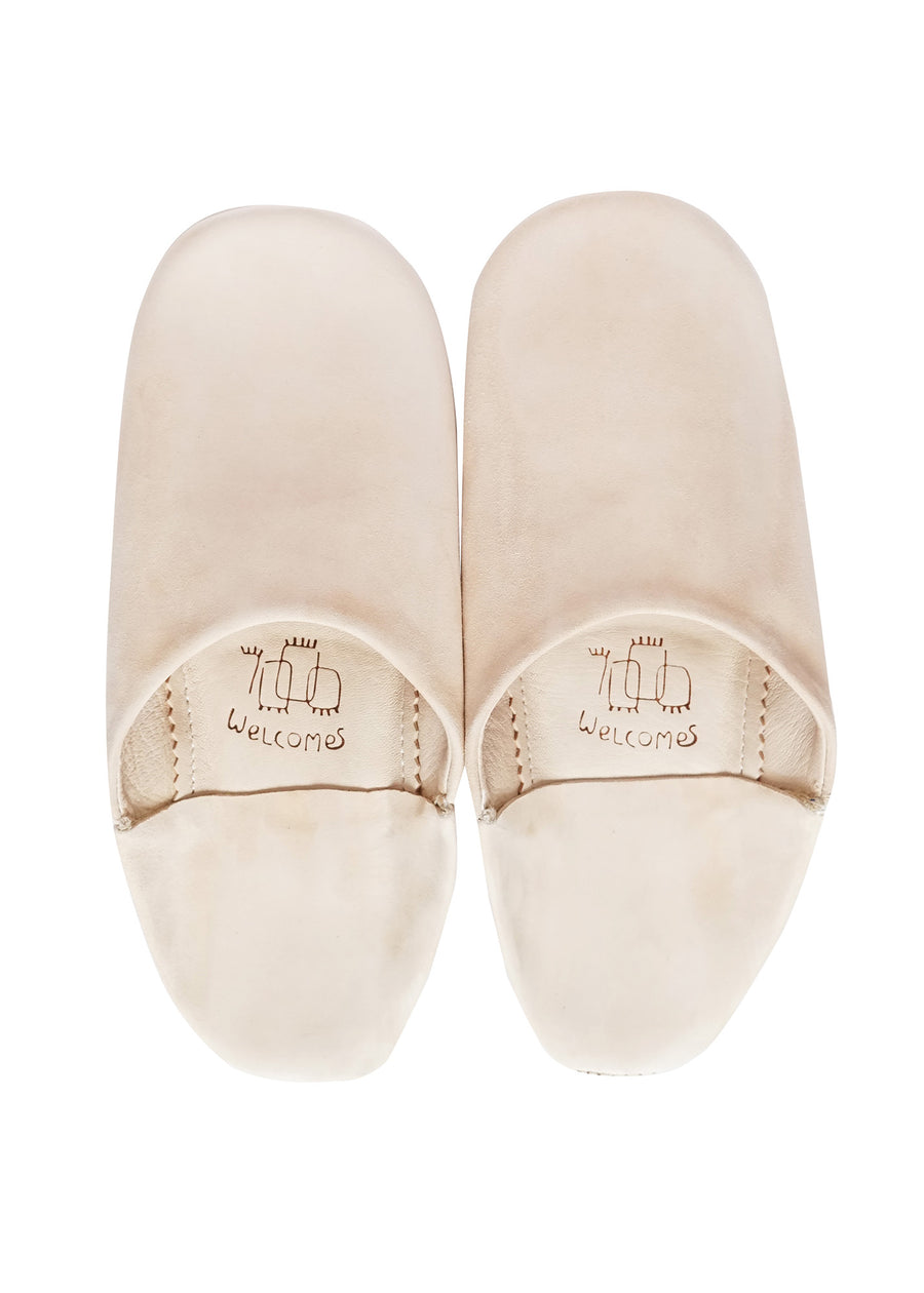 Soft Pink Moroccan Babouche Suede Slippers / Leather Indoor Slippers / Women's Babouche