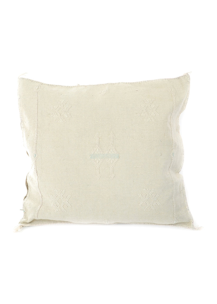 Light Gray Cactus Silk Pillow / Sabra Pillow / Moroccan Pillow 154