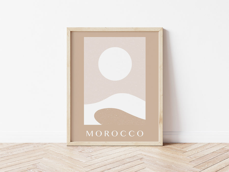 Digital Download / Moroccan Desert Print / Sahara Desert Poster / Abstract Printable Wall Art / Pastel Boho Print