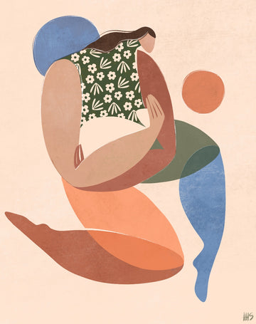 'Mothering' art print by Maggie Stephenson