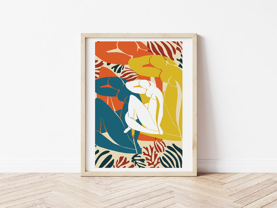 Digital Download / Henri Matisse Print / Abstract Women Figure Print / Modern Art Print / Boho Printable Wall Art