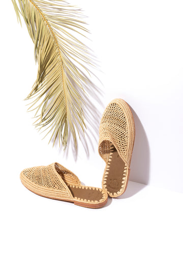 Natural Raffia Sandals Handwoven in Morocco