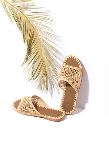 Raffia Slippers Handwoven in Morocco