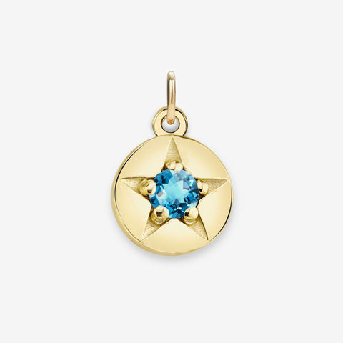 BLUE TOPAZ (DECEMBER) CHARM