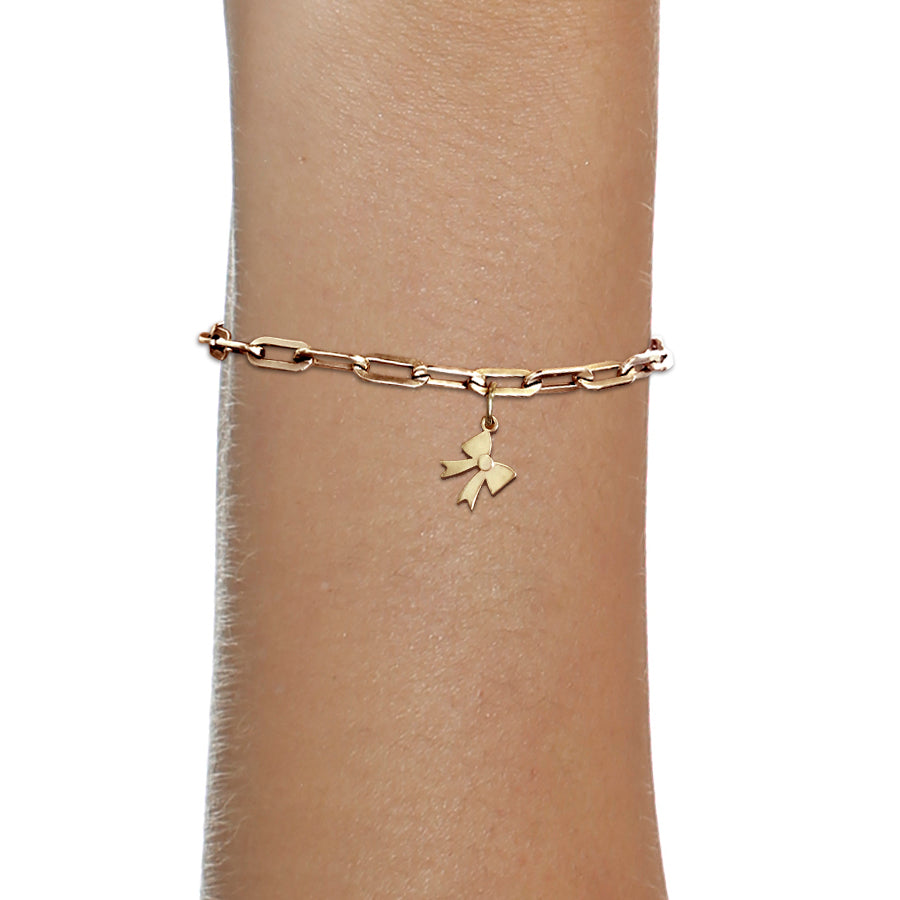 BOW CHARM / 14K GOLD