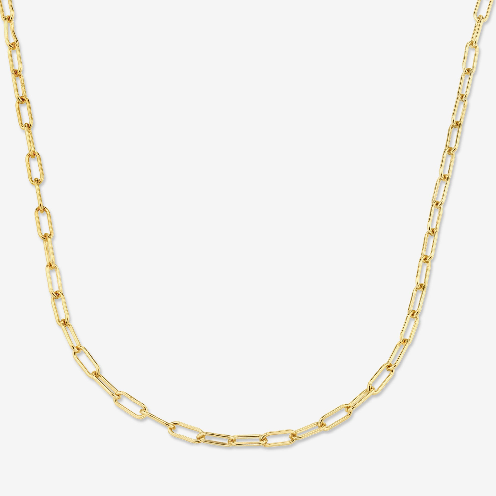 GOLD FILLED LONG LINK CHAIN NECKLACE