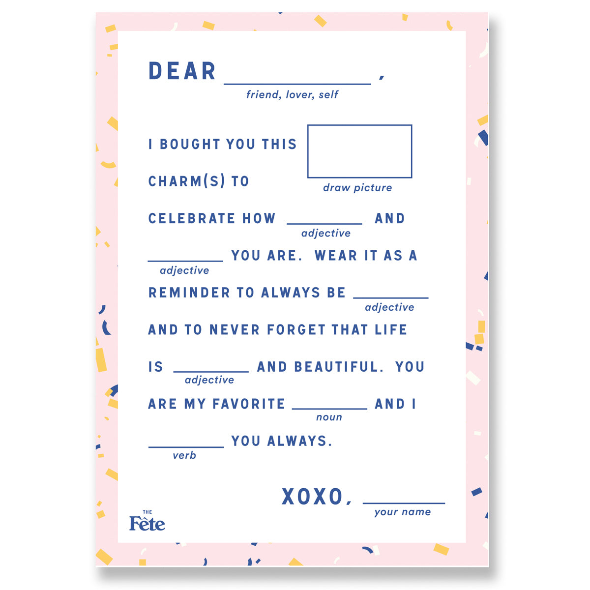 FÊTE GREETING CARD