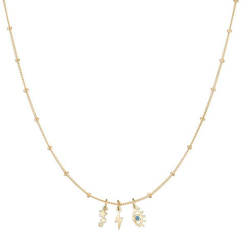 14K SOLID GOLD SATELLITE CHAIN