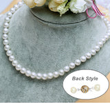 8-9mm Freshwater Pearl  Necklace Strand White 18