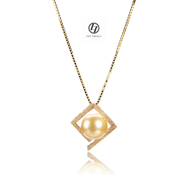 LILY TREACY 10-11MM GOLDEN SOUTH SEA PEARL MARIA PENDANT
