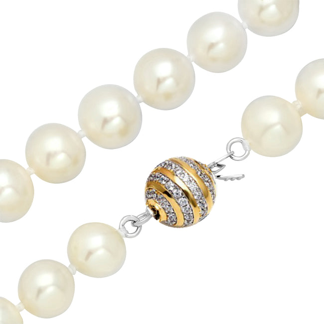"8 - 9mm Freshwater Pearl  Necklace Strand White 18"" wedding bridal gift"