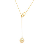 Lily Treacy 10-11mm Golden South Sea Pearl 18K Yellow Gold Pendant Necklace Up to 20