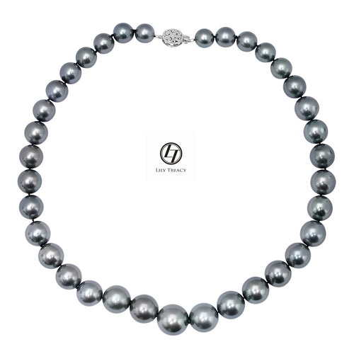 LILY TREACY 10.5-15.5MM TAHITIAN PEARL GRADUATE STRAND REBECCA NECKLACE