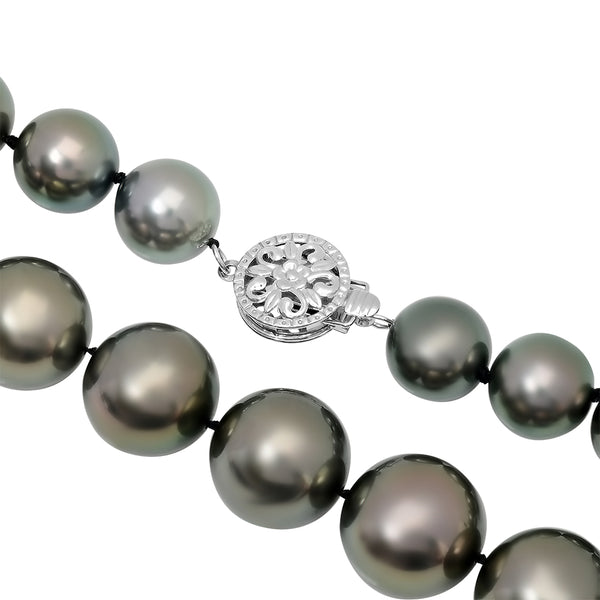 LILY TREACY 10-14MM TAHITIAN PEARL GRADUATE STRAND IRINE NECKLACE