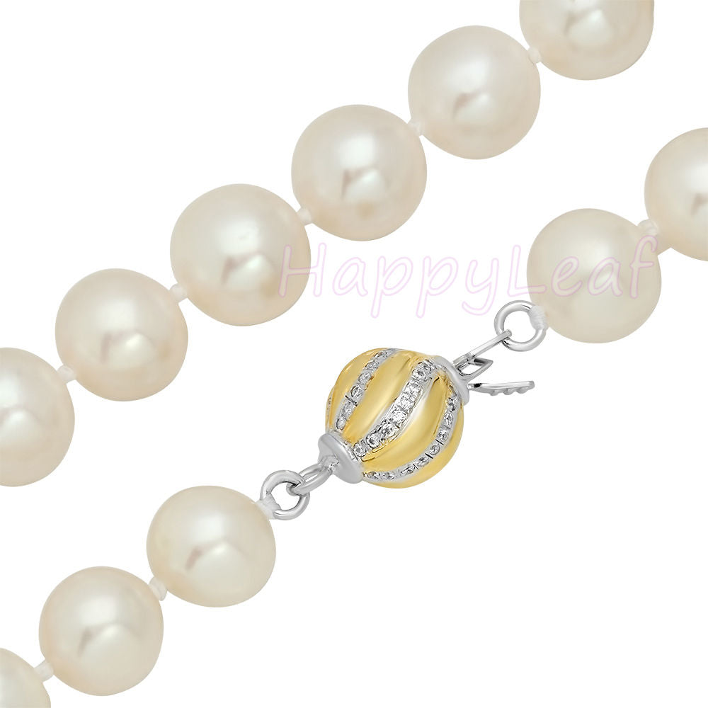 f42655b3c Best Deal* 8.5-9.5mm White Freshwater Pearl Strand Necklace 18 ...