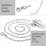 11mm white Freshwater Pearl Sterling Silver CZ Pendant Necklace Chain 18