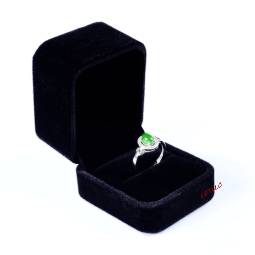 Lily Treacy Deluxe Black Velvet Ring Box Engagement,weddings, Pocket size