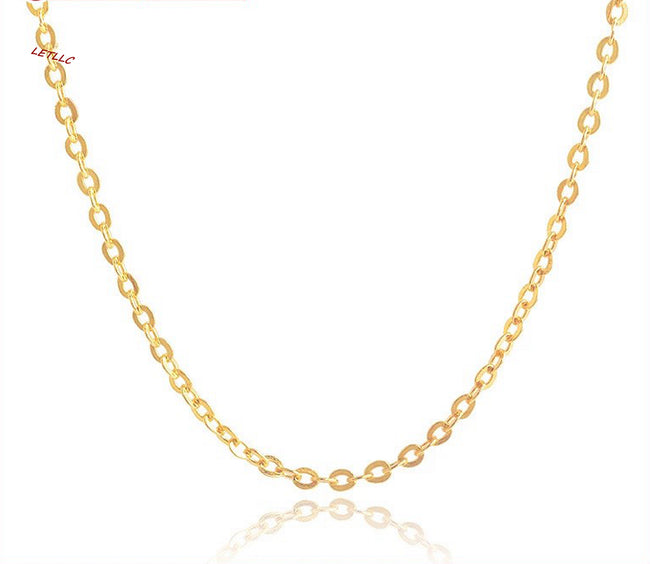 "925 Sterling Silver ""O"" Chain Necklace 18K Yellow Rose White Gold Vermeil 16"" 18"" 20"" 30"""