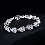 Tennis Bracelet Top CZ Pear Cut 23ctw 6.5