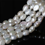 15-20mm Freshwater Baroque Pearl Necklace Strand White 18