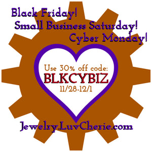 Sale: Black Friday, Small Business Saturday, Cyber Monday