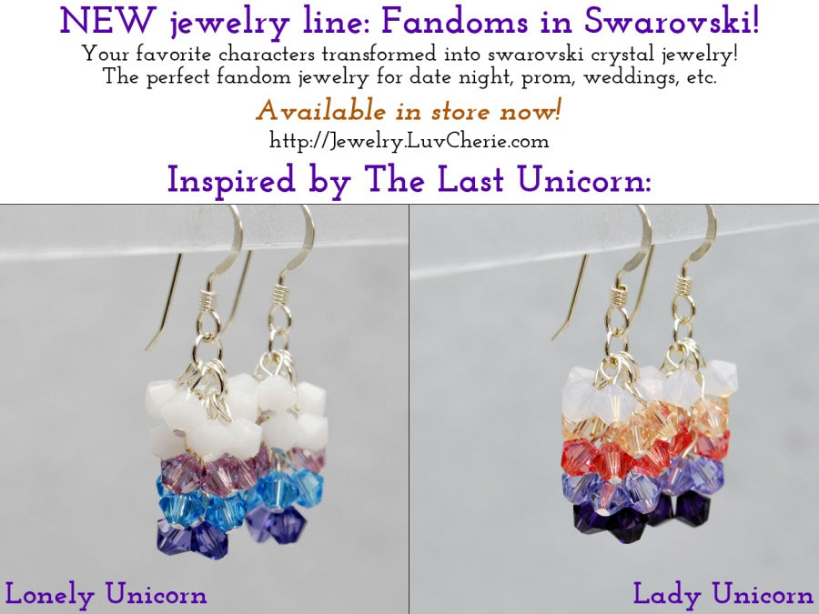 NEW jewelry line: Fandoms in Swarovski