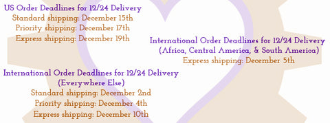 Christmas 2014 Shipping Deadlines