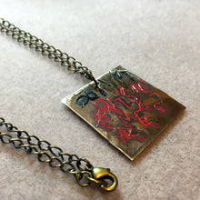 Brass Red and Black Abstract Make It So Star Trek TNG Inspired Necklace - LuvCherie Jewelry