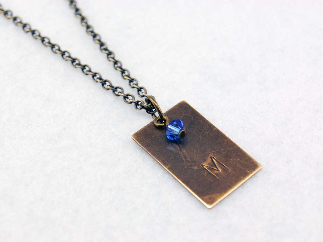Team Mystic Inspired Necklace in Antique Brass - Pokemon Go Teams