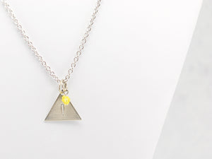 Team Instinct Inspired Necklace in Silver - Pokemon Go Teams