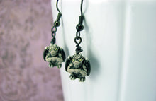 Gargoyle Earrings in Gunmetal