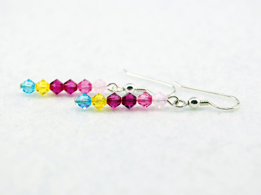 Princess Bubblegum Stick Earrings Inspired by Adventure Time - Fandoms in Swarovski