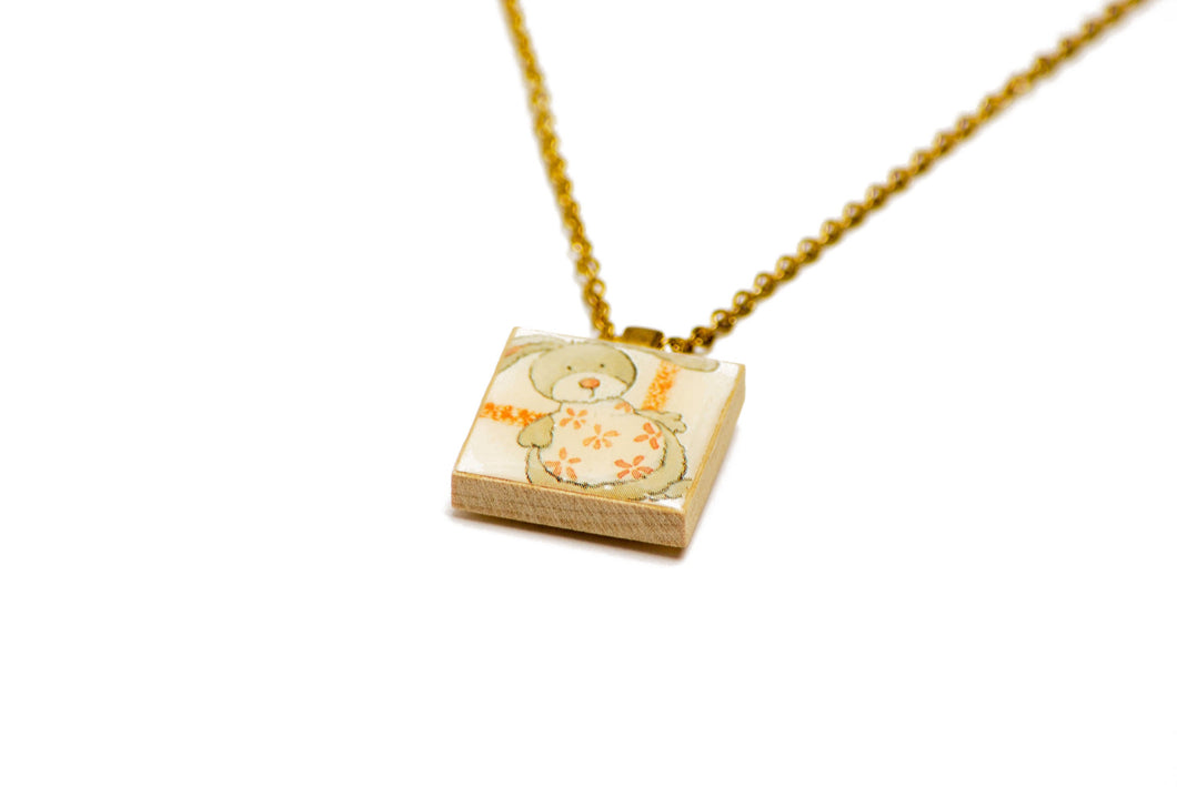 Toy Rabbit Necklace in Gold