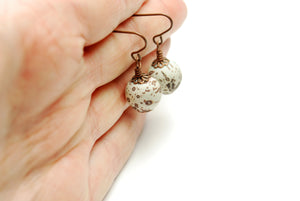Antique Copper Abstract Clay Earrings - LuvCherie Jewelry