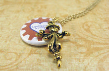 Gold Scarecrow Necklace - Wizard of Oz Necklace, Story Book Necklace, Movie Necklace, Autumn, Fall, Harvest, CLEARANCE 75% OFF