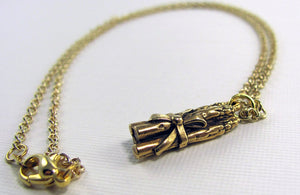 Asparagus Necklace in Gold