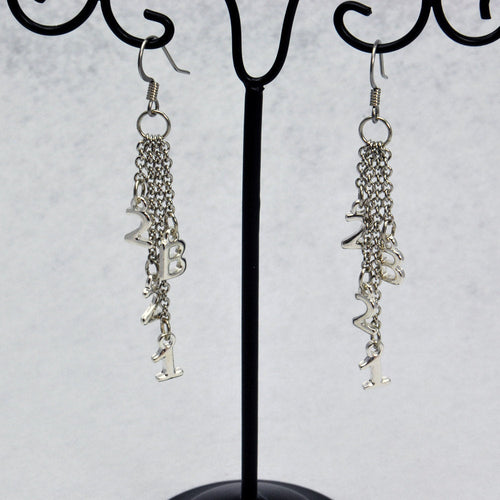 221B Chain Sherlock Earrings in Silver