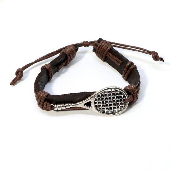 Leather Unisex Tennis  Bracelet
