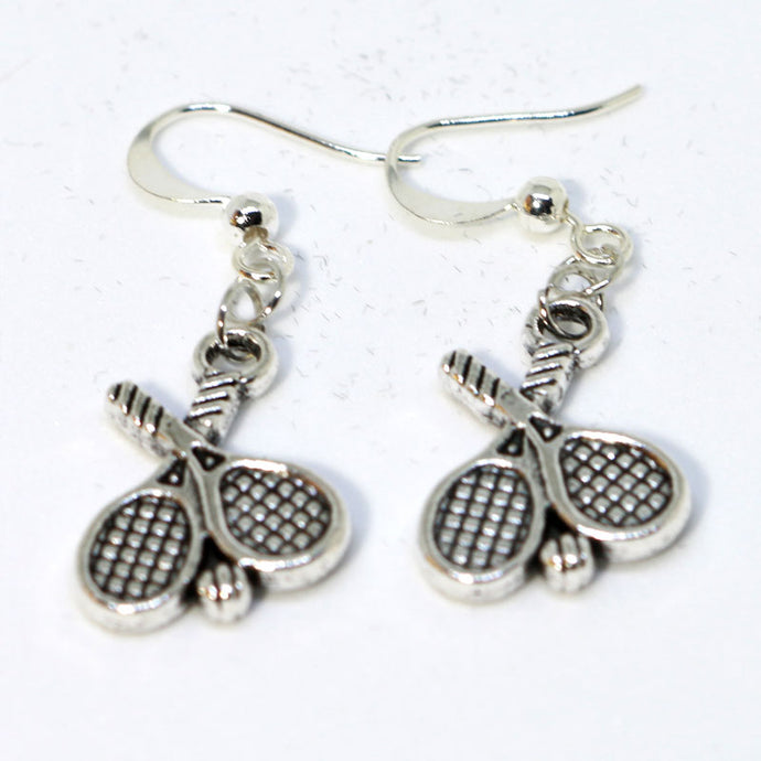 Silver Tennis Earrings